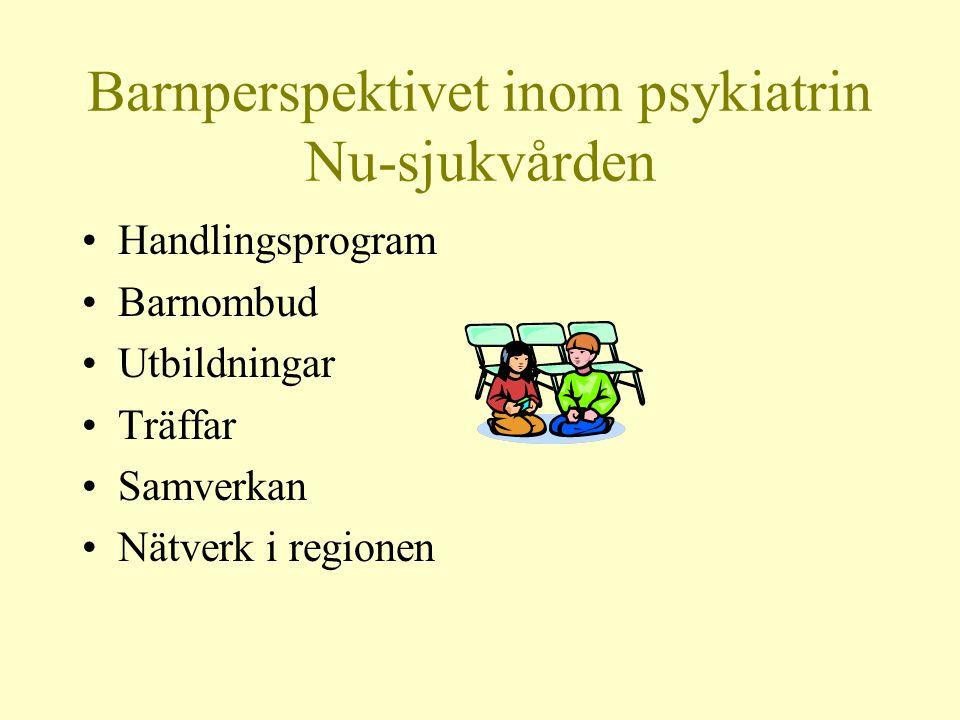 Barnperspektivet inom psykiatrin Nu-sjukvården