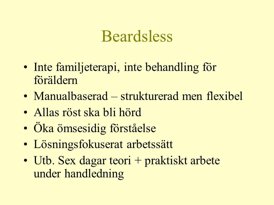 Beardsless Inte familjeterapi, inte behandling för föräldern