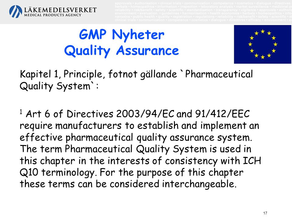 GMP Nyheter Quality Assurance