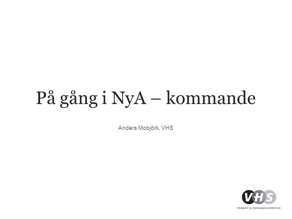 På gång i NyA – kommande Anders Mobjörk, VHS