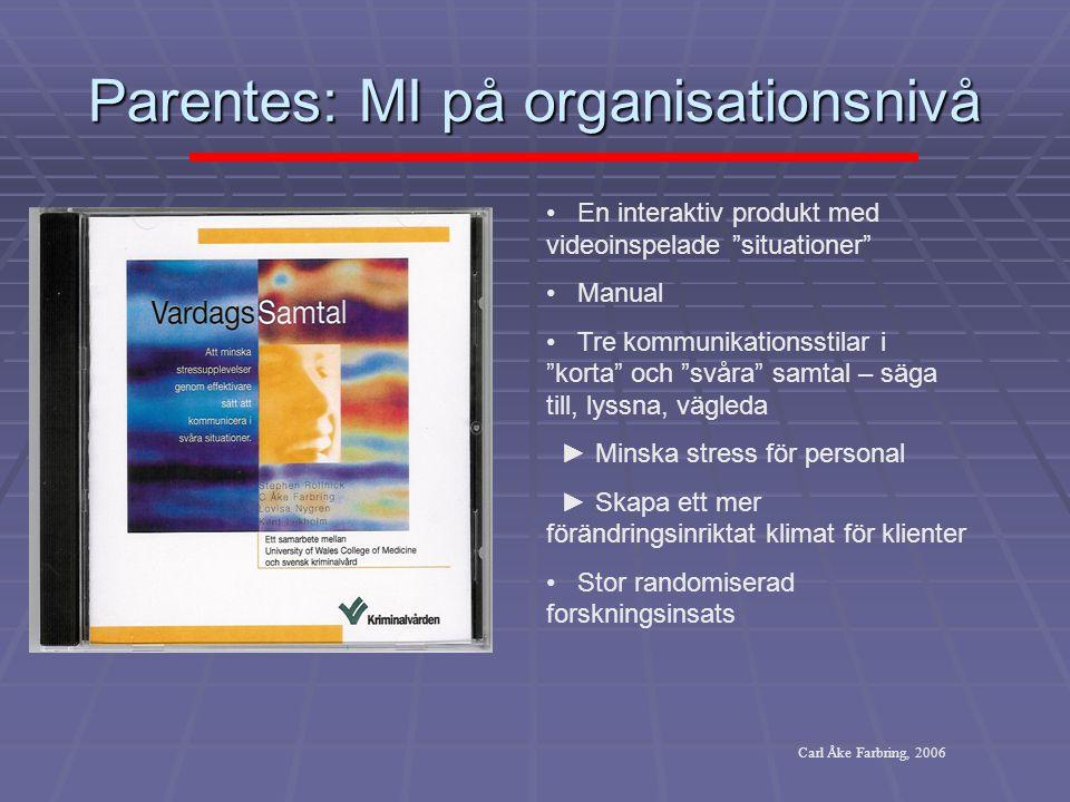 Parentes: MI på organisationsnivå