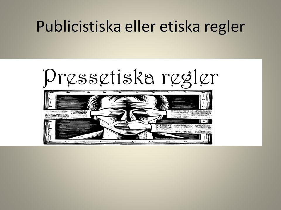 Publicistiska eller etiska regler