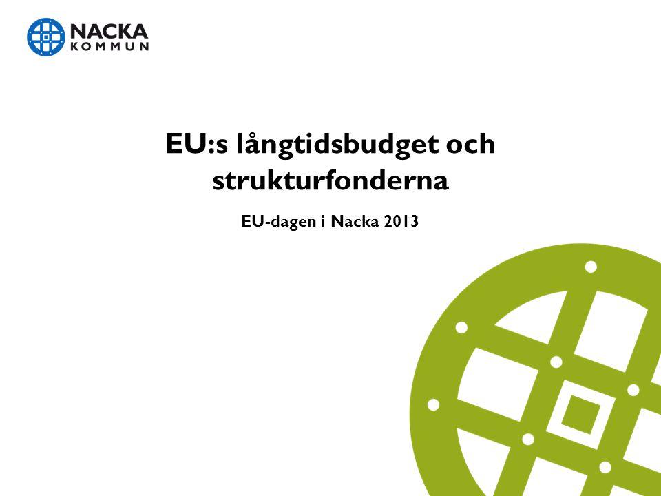 EU:s långtidsbudget och strukturfonderna EU-dagen i Nacka 2013