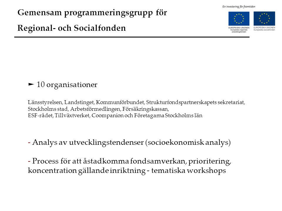 Gemensam programmeringsgrupp för Regional- och Socialfonden