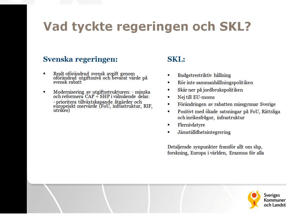 Vad tyckte regeringen och SKL (SKLs bild)