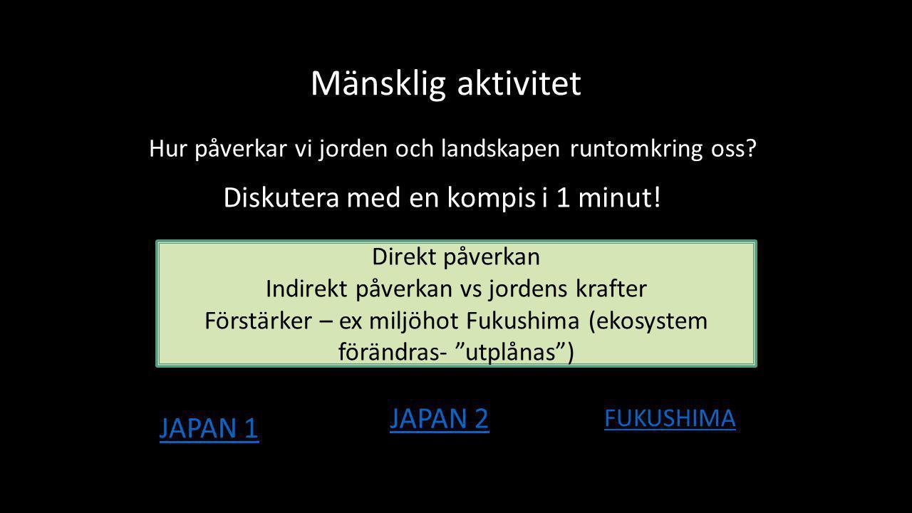 Mänsklig aktivitet Diskutera med en kompis i 1 minut! JAPAN 2 JAPAN 1
