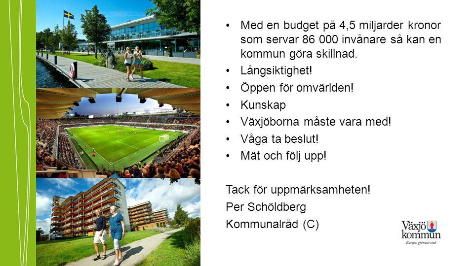 Med en budget på 4,5 miljarder kronor som servar 86 000 invånare så kan en kommun göra skillnad.