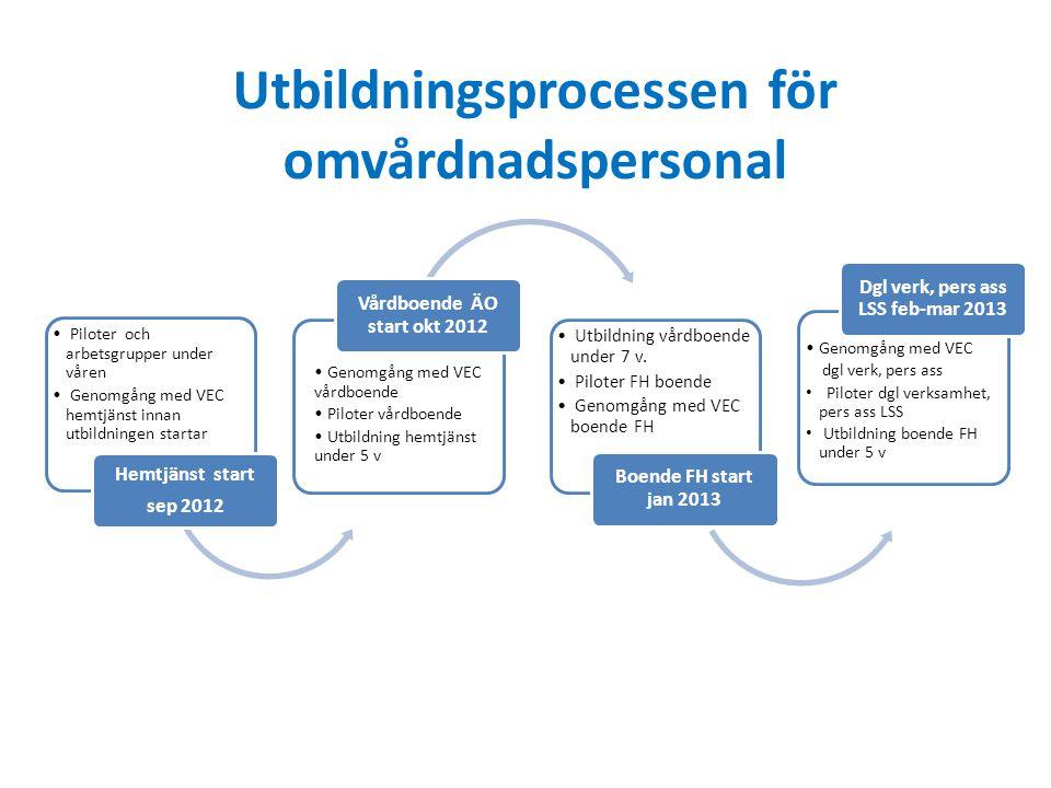 Utbildningsprocessen för omvårdnadspersonal