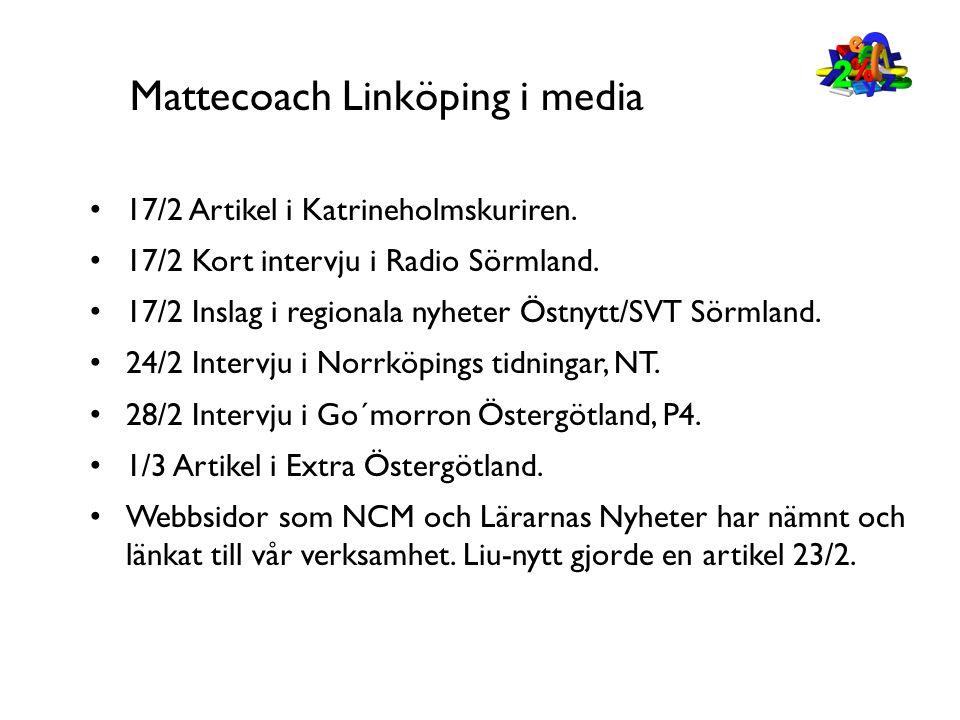 Mattecoach Linköping i media