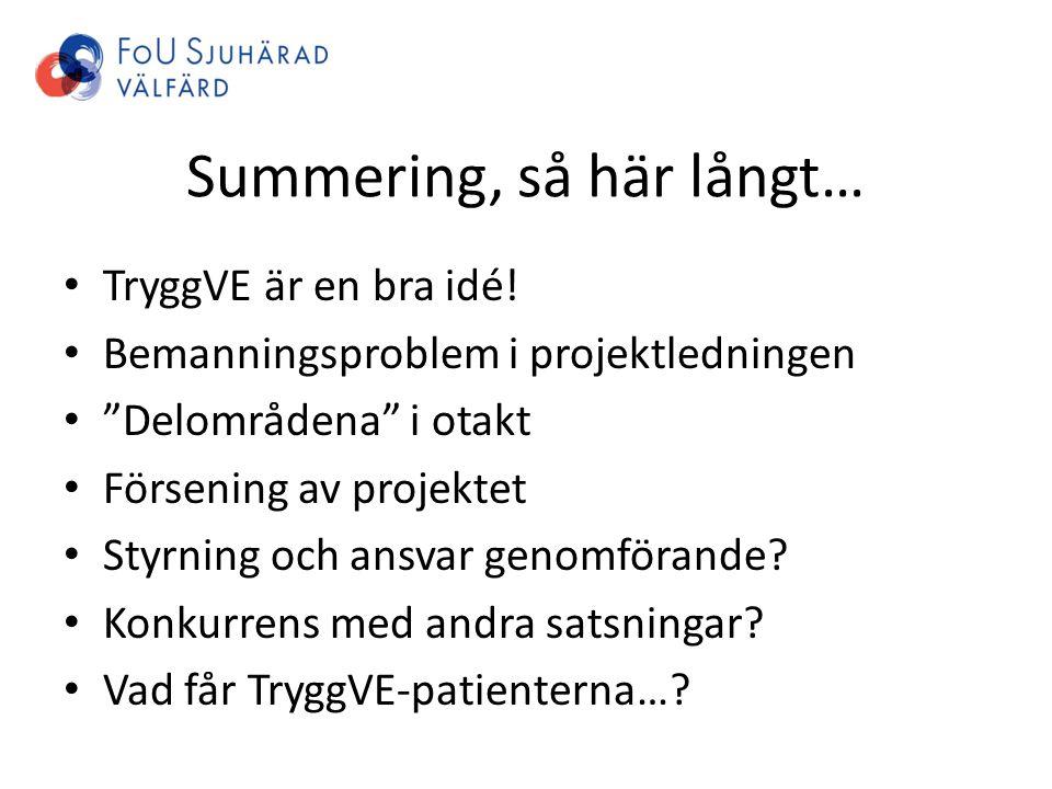 Summering, så här långt…