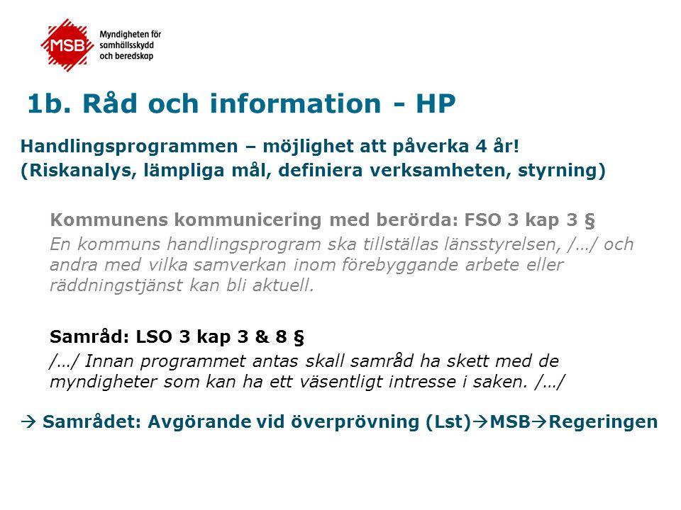 1b. Råd och information - HP