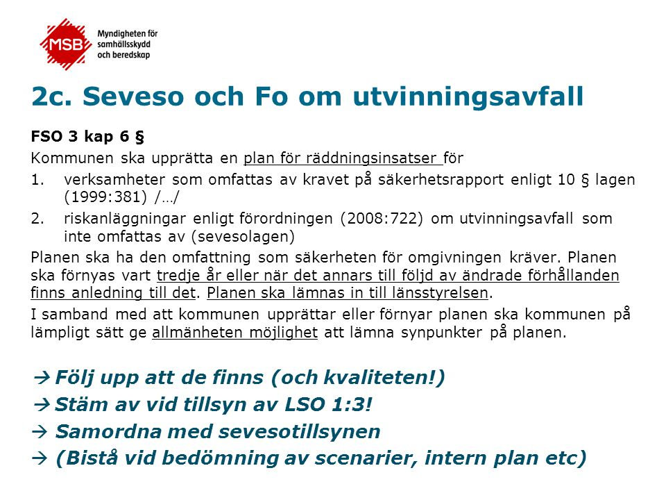 2c. Seveso och Fo om utvinningsavfall