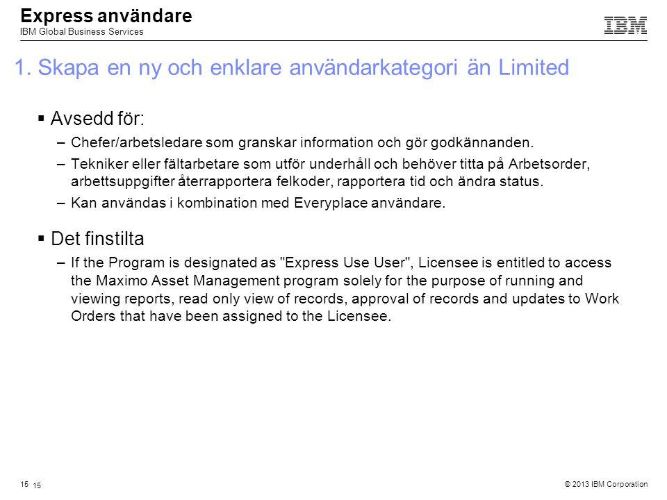 1. Skapa en ny och enklare användarkategori än Limited