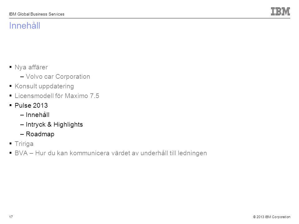 Innehåll Nya affärer Volvo car Corporation Konsult uppdatering