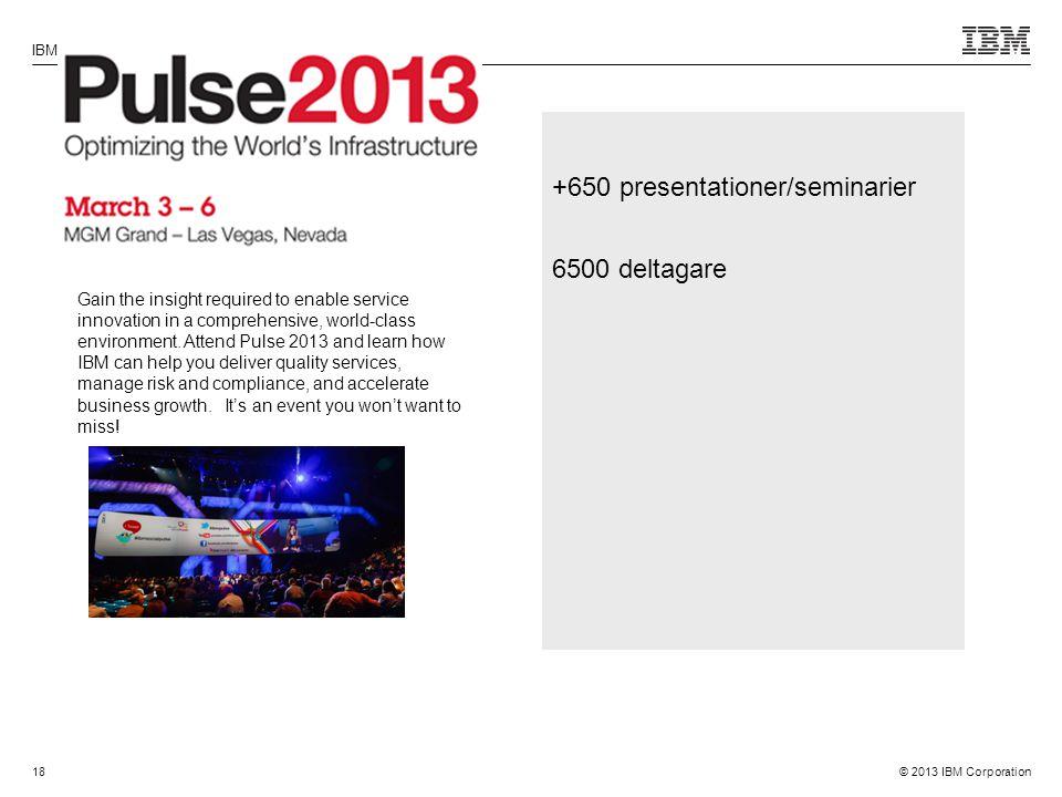 +650 presentationer/seminarier