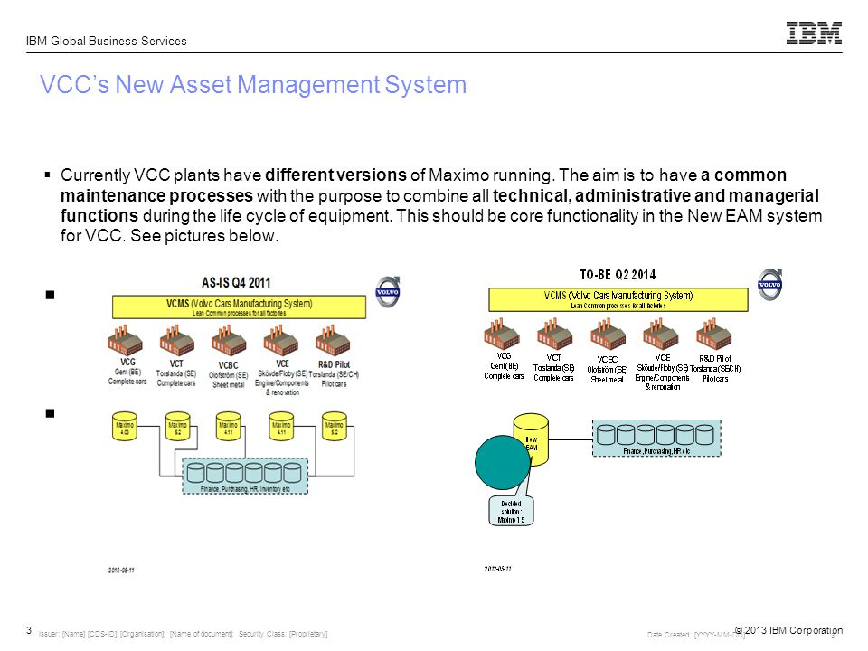 VCC's New Asset Management System