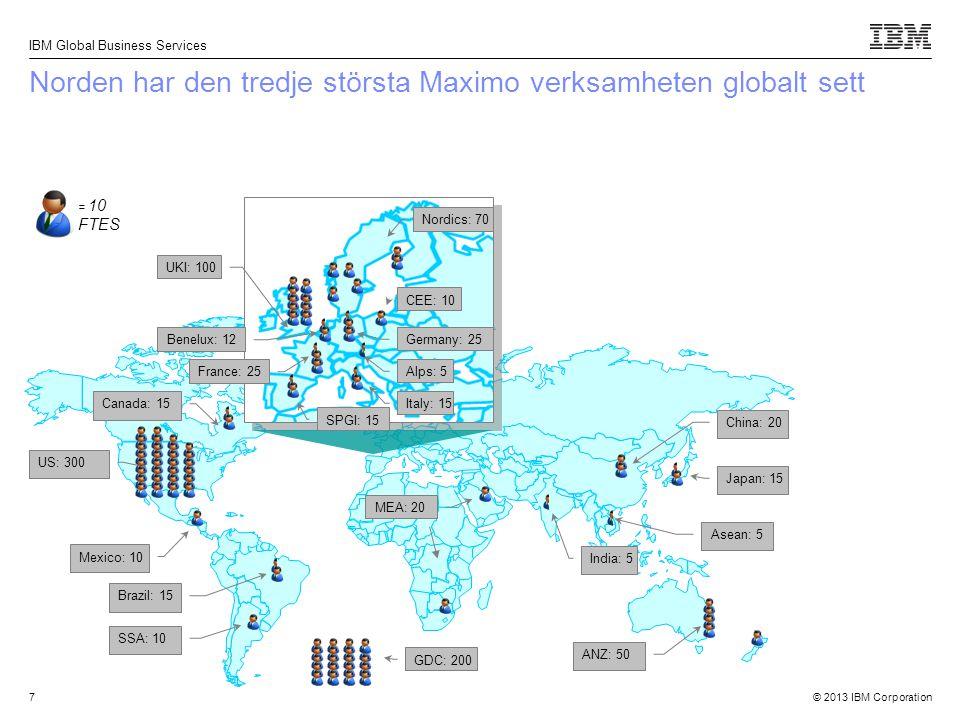 Norden har den tredje största Maximo verksamheten globalt sett