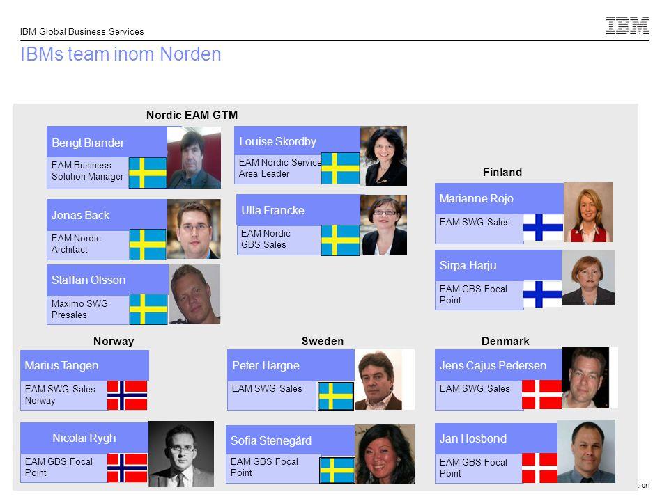 IBMs team inom Norden Nordic EAM GTM Bengt Brander Louise Skordby