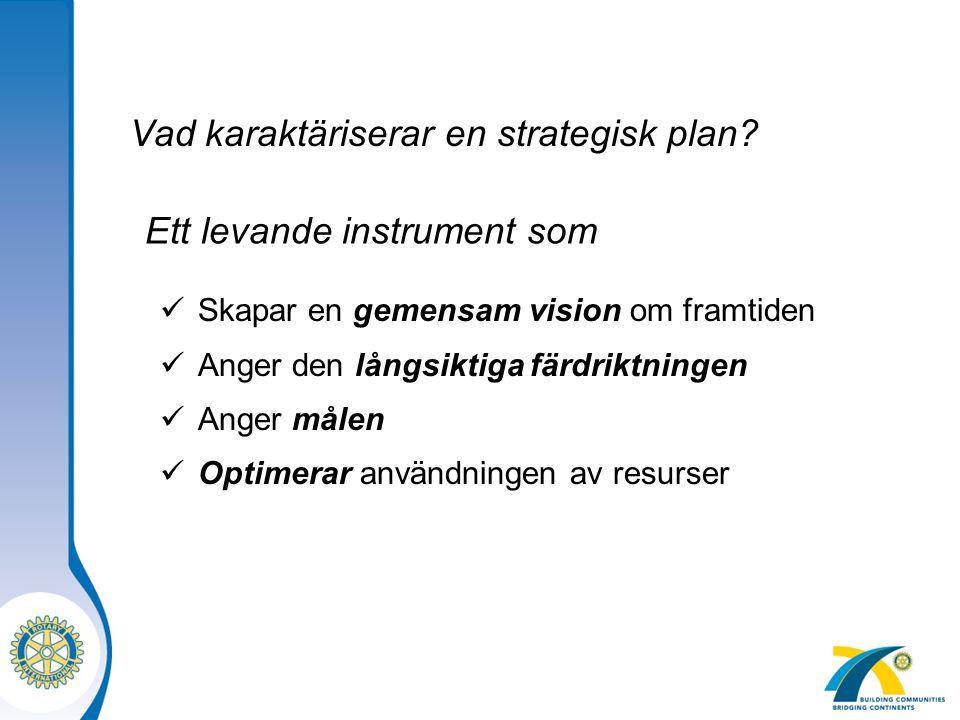 Vad karaktäriserar en strategisk plan