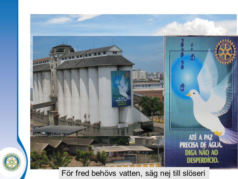 För fred behövs vatten, säg nej till slöseri
