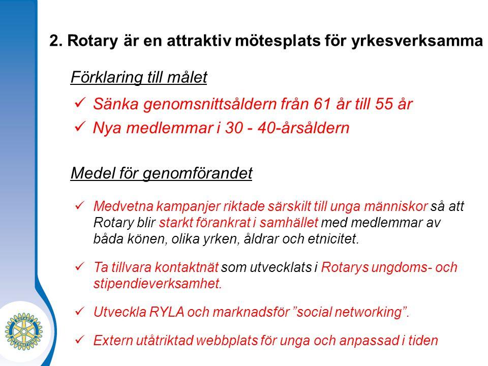 2. Rotary är en attraktiv mötesplats för yrkesverksamma