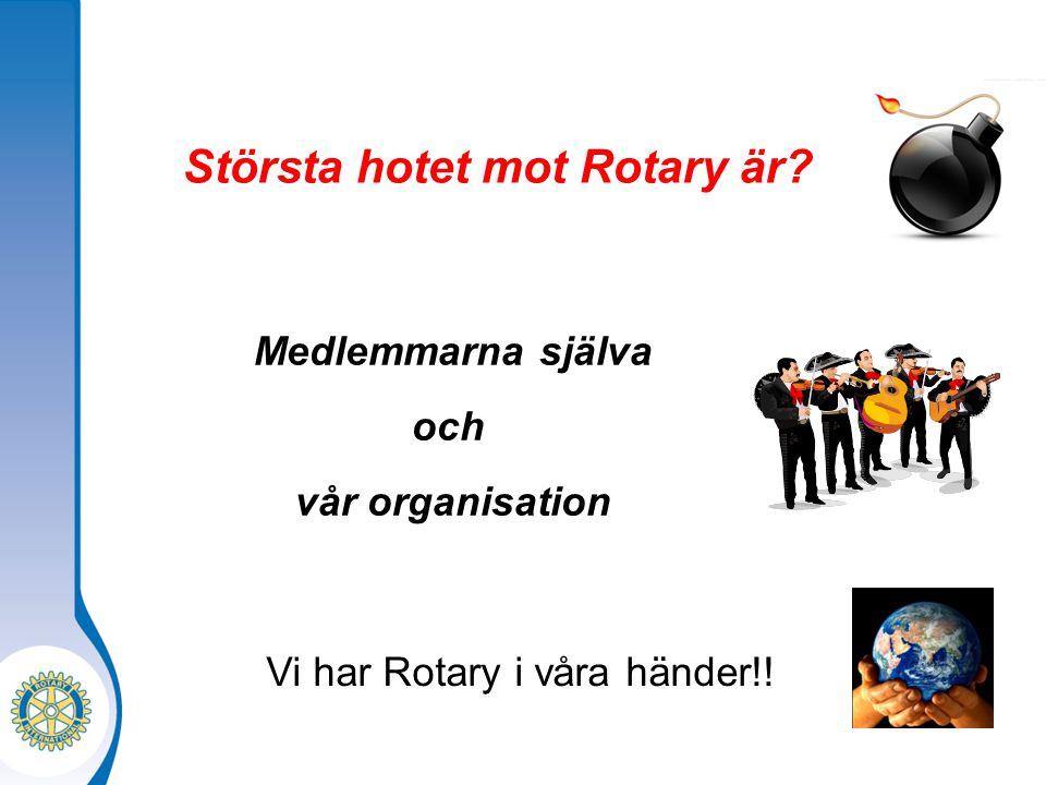 Största hotet mot Rotary är