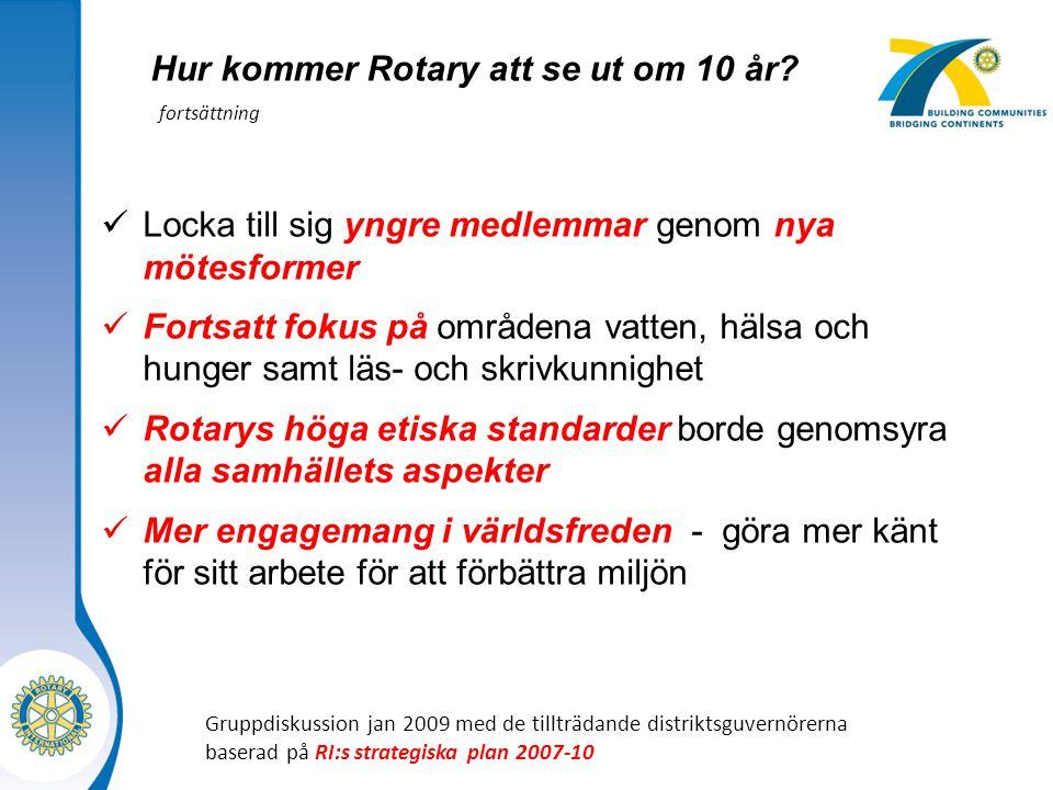Hur kommer Rotary att se ut om 10 år