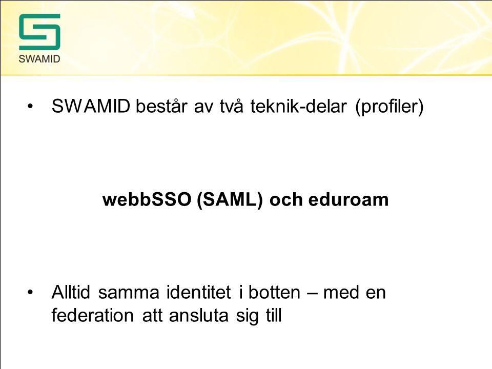 webbSSO (SAML) och eduroam
