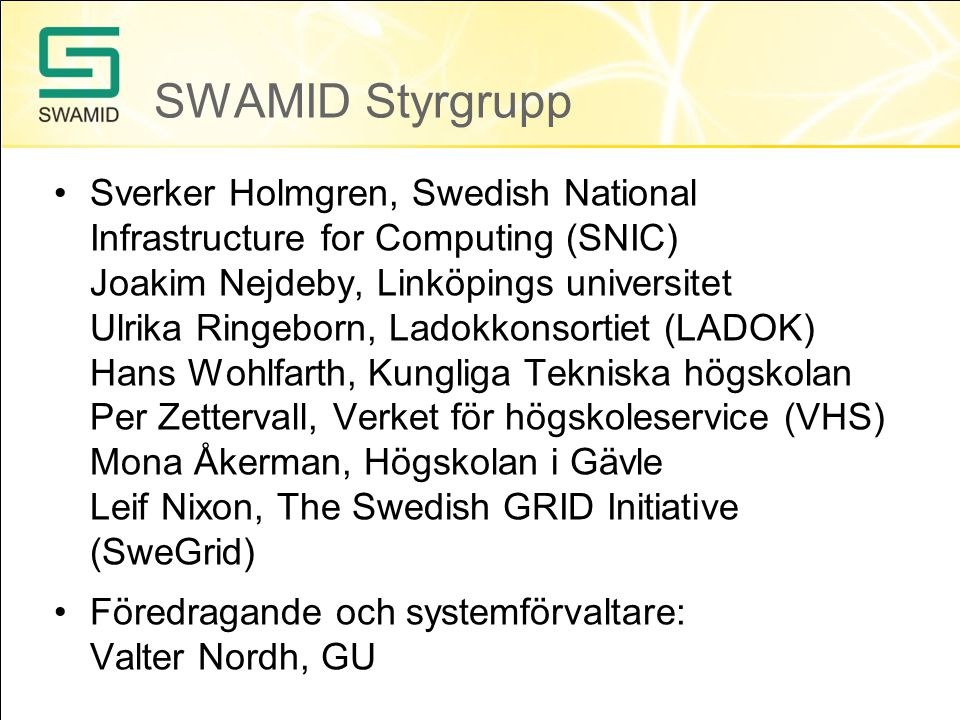 SWAMID Styrgrupp