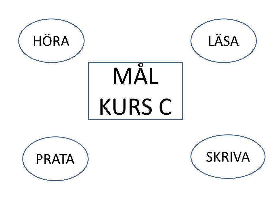 HÖRA LÄSA MÅL KURS C SKRIVA PRATA