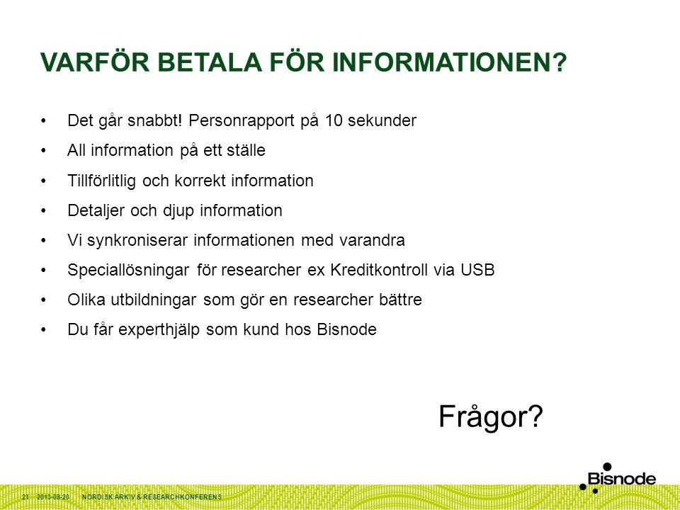 Varför betala för informationen