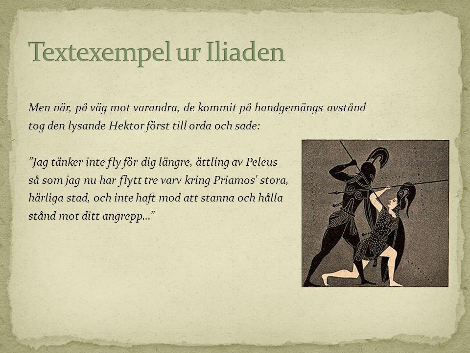 Textexempel ur Iliaden