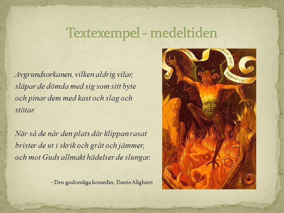 Textexempel - medeltiden