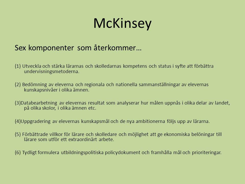 McKinsey Sex komponenter som återkommer…
