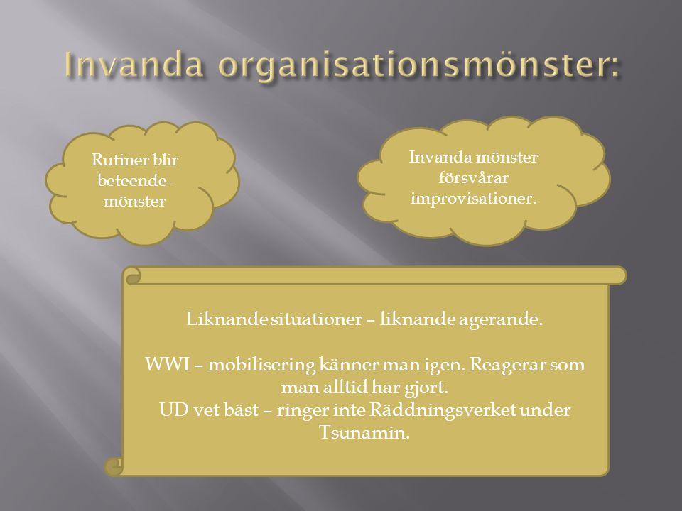 Invanda organisationsmönster: