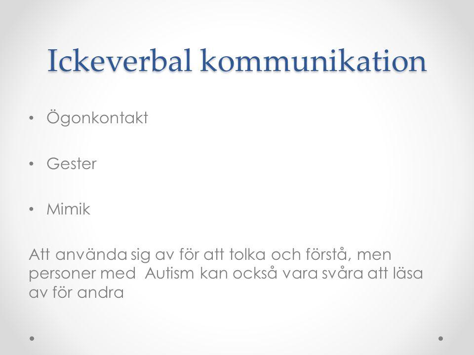 Ickeverbal kommunikation