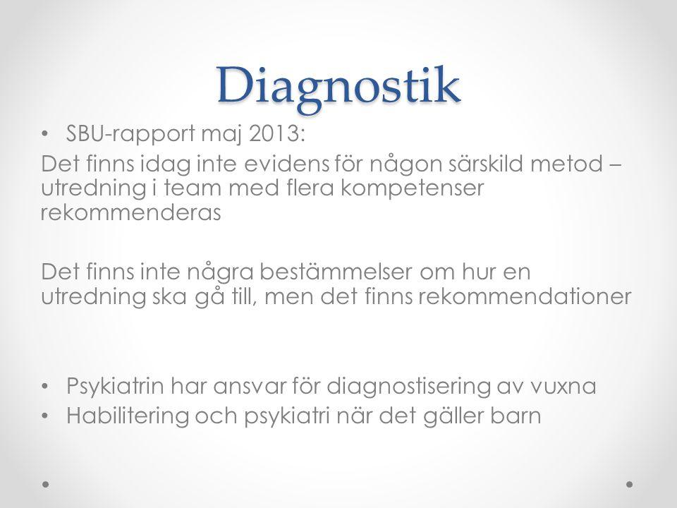 Diagnostik SBU-rapport maj 2013: