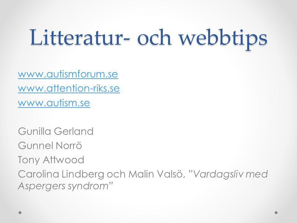Litteratur- och webbtips