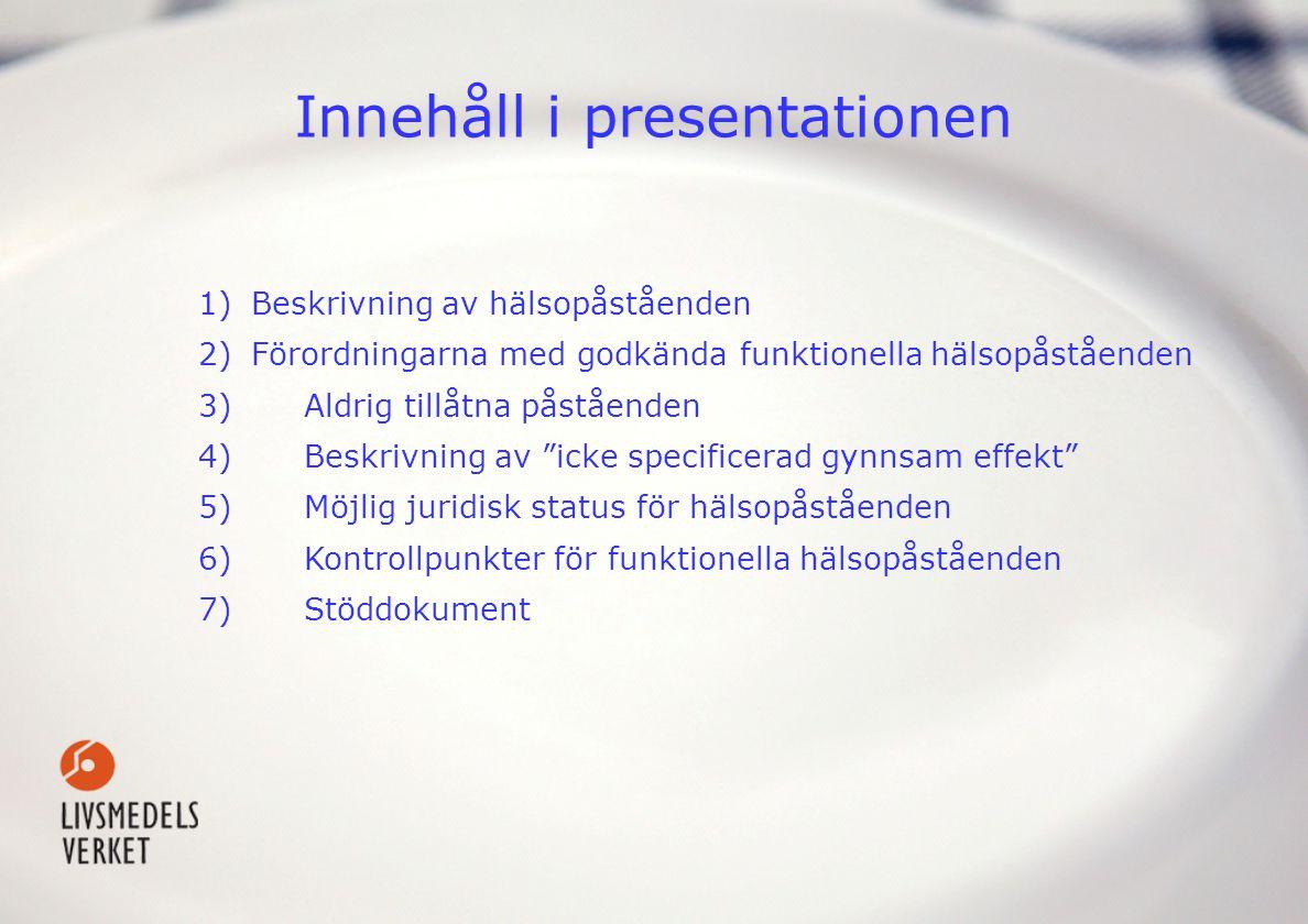 Innehåll i presentationen
