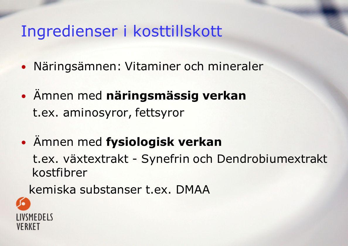 Ingredienser i kosttillskott