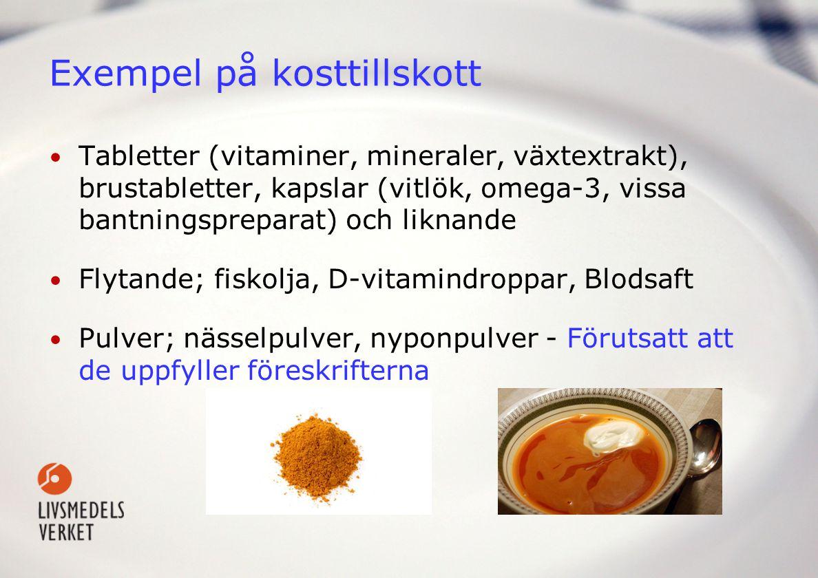 Exempel på kosttillskott