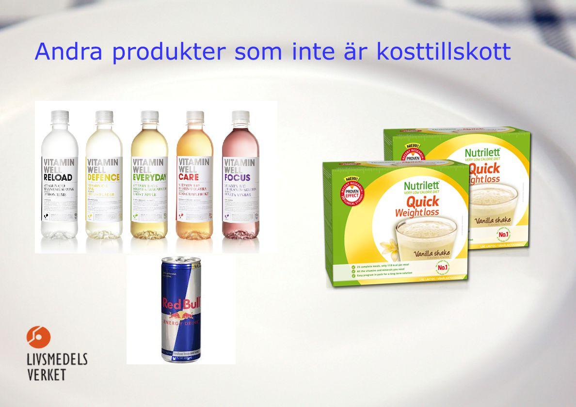 Andra produkter som inte är kosttillskott
