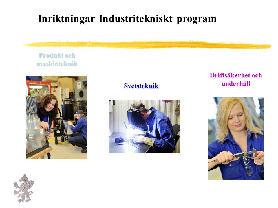Inriktningar Industritekniskt program