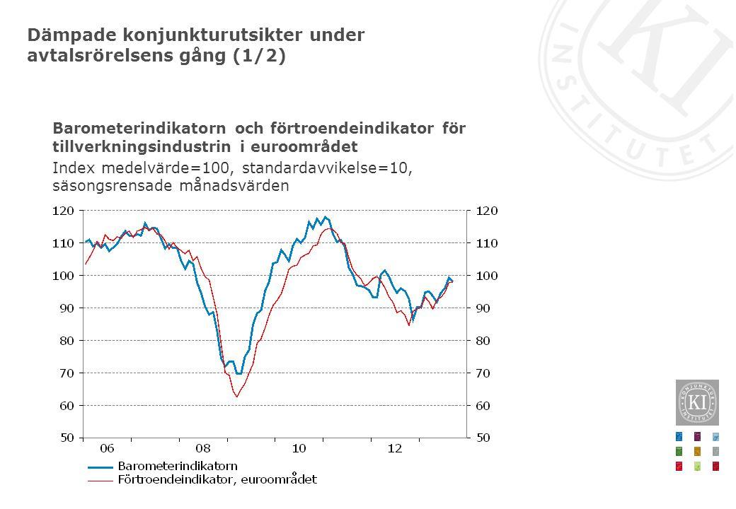 Dämpade konjunkturutsikter under avtalsrörelsens gång (1/2)