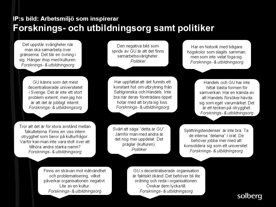 IP:s bild: Arbetsmiljö som inspirerar Forsknings- och utbildningsorg samt politiker
