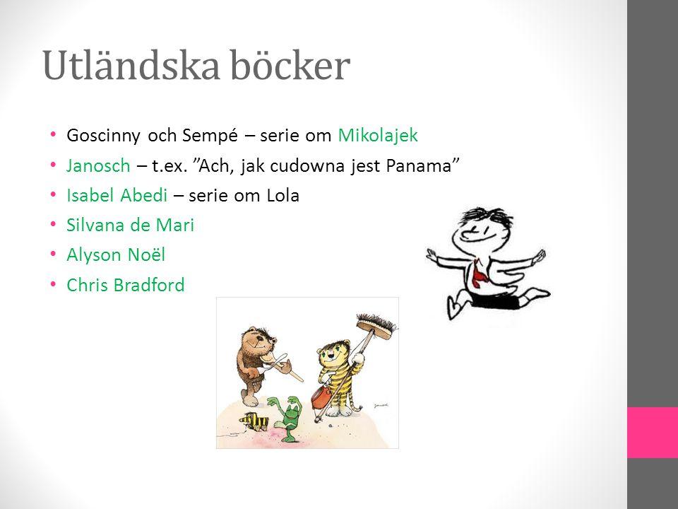 Utländska böcker Goscinny och Sempé – serie om Mikolajek