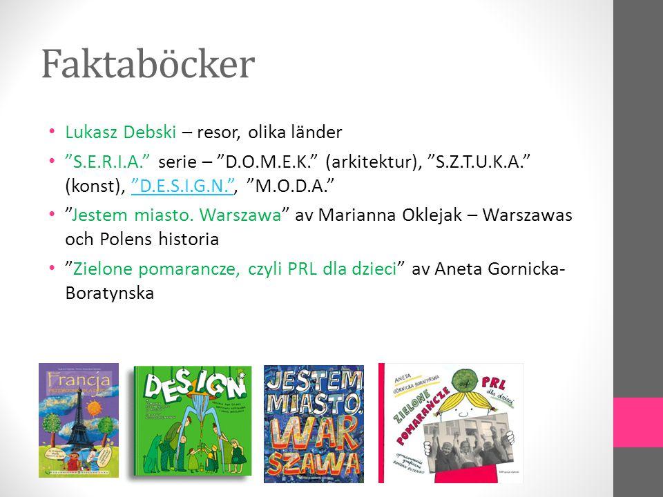 Faktaböcker Lukasz Debski – resor, olika länder