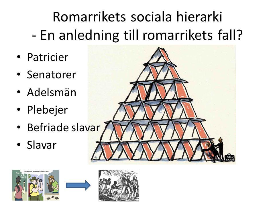 Romarrikets sociala hierarki - En anledning till romarrikets fall