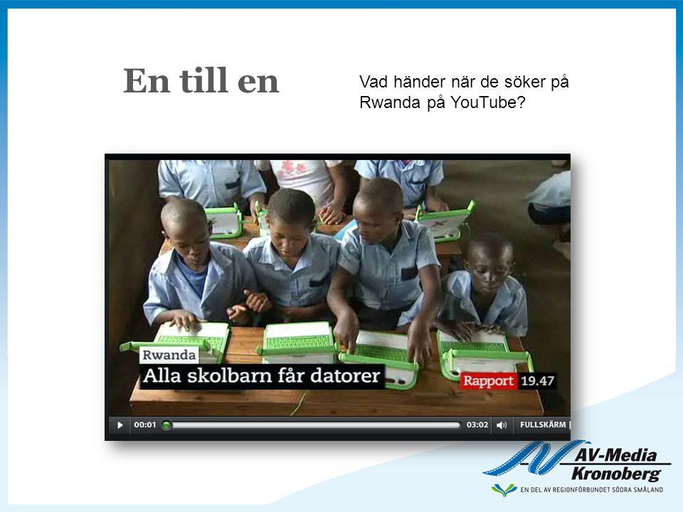 En till en Vad händer när de söker på Rwanda på YouTube