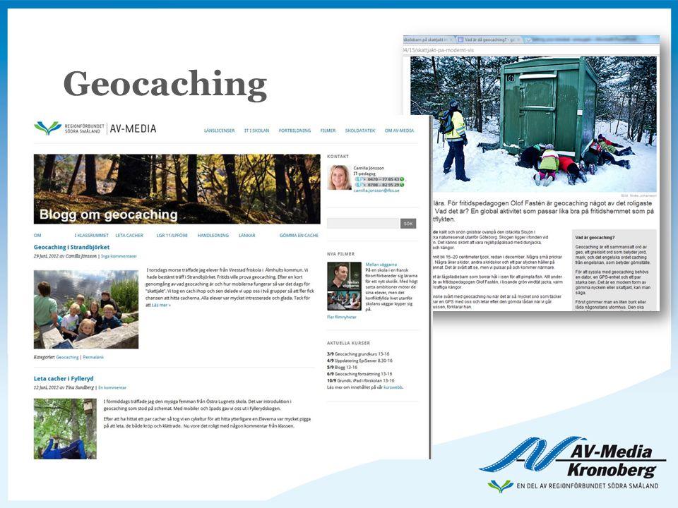 Geocaching Utifrån att mobilen är bannlyst i undervisningen!